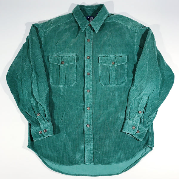 GAP Forest Green Cord Button-Up