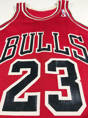"Bulls Jordan ""White Name"" Champion Jersey"