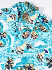 Pineapple Connection Waves Hawaiian Shirt