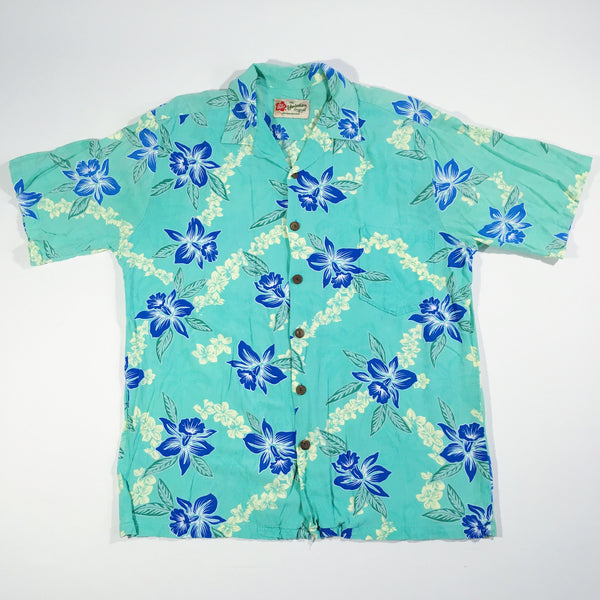 Hilo Hattie Seafoam Hawaiian Shirt