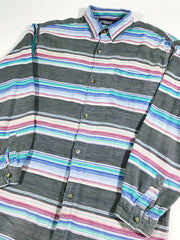 Apparatus Mexican Striped Button-Up