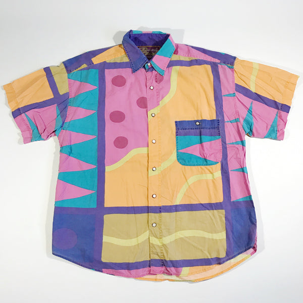 Promised Land Abstract Button-Up Shirt