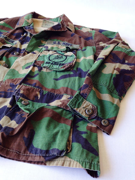 Navy SeaBees Woodland Camo Button-Up – VINTAGE STRAINS