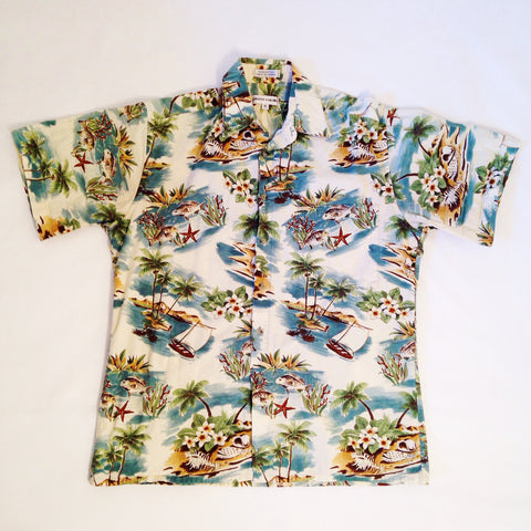 Pierre Cardin Beach Hawaiian Shirt