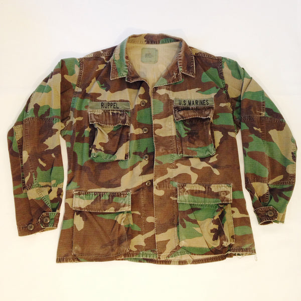 Marines Woodland Camo Button-Up