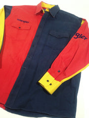 Wrangler Color Block Button-Up