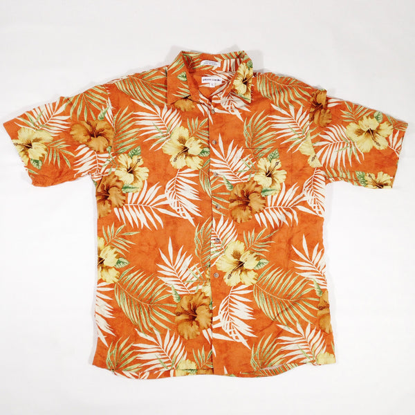 Pierre Cardin Flowers Hawaiian Shirt