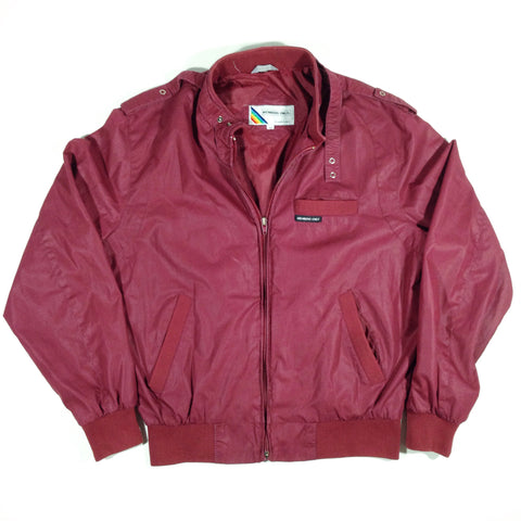 Members Only Bomber Jacket Burgundy