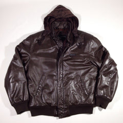 Members Only Leather Bomber Jacket