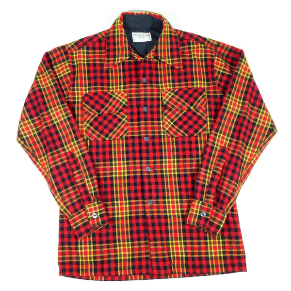 Wool 1970's Flannel Button-Up