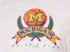 Michigan Basketball 1991 Laurel T-Shirt