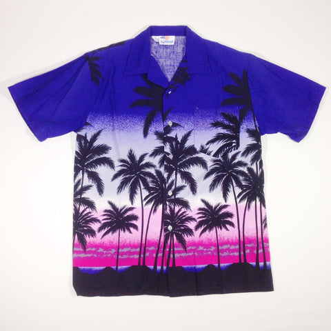 Windswept Indigo Hawaiian Shirt