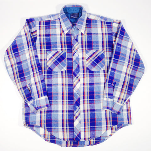 Career Club Flannel Button-Up