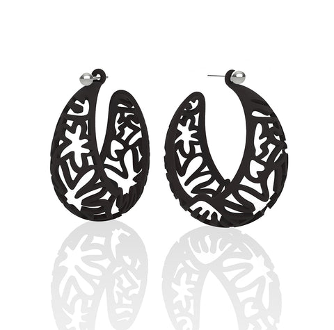 MATISSE.cutout   CORAL.black  LARGE hoops
