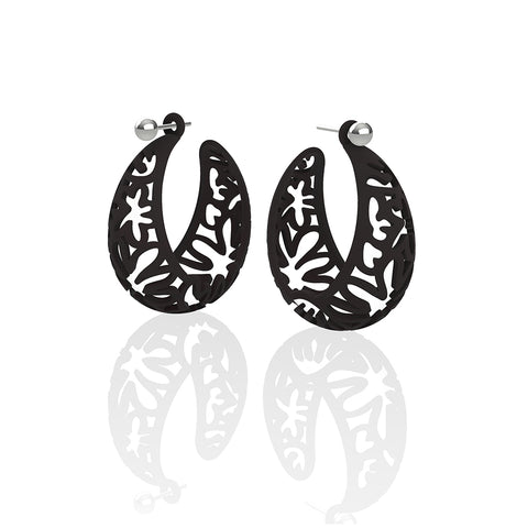 MATISSE.cutout   CORAL.black  MEDIUM hoops