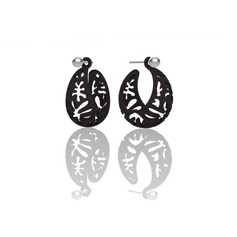 MATISSE.cutout   CORAL.black  SMALL hoops
