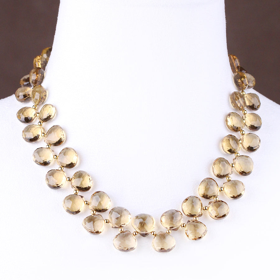 HEIRLOOM.series:   CHAMPAGNE CITRINE.18k   Necklace