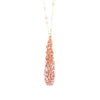 "COCOON.necklace:  29"" PEACH.rosewater"