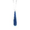 "COCOON.necklace:  29"" SEA.BLUE w.metallic blue"