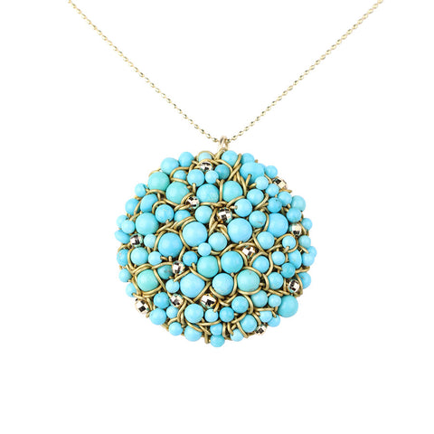 DISC.pendant:  14k.turquoise:sleeping beauty