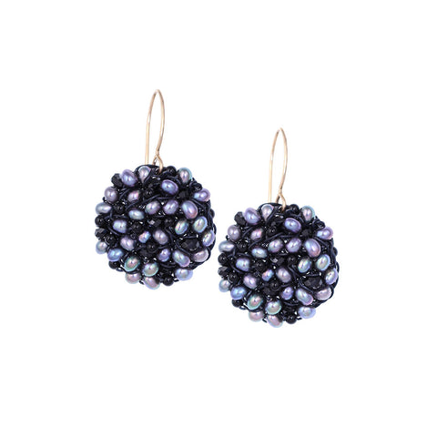 DISC.earrings:  SPINEL.freshwater.PEARL:  medium