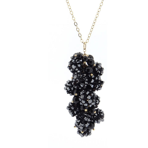 GRAPEVINE.necklace:  with.BLACK.ONYX