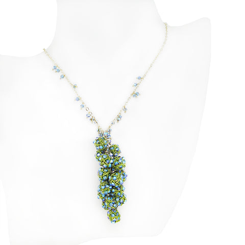 GRAPEVINE.necklace: BLUE GREEN options