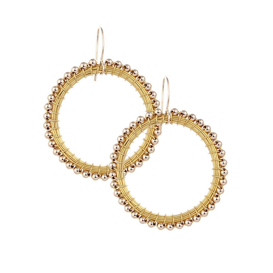 HOOPS:  14kt.goldfill:  large