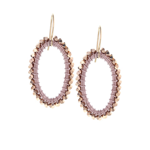 HOOP.earrings:  OVAL.medium:  ROSEGOLD:color options