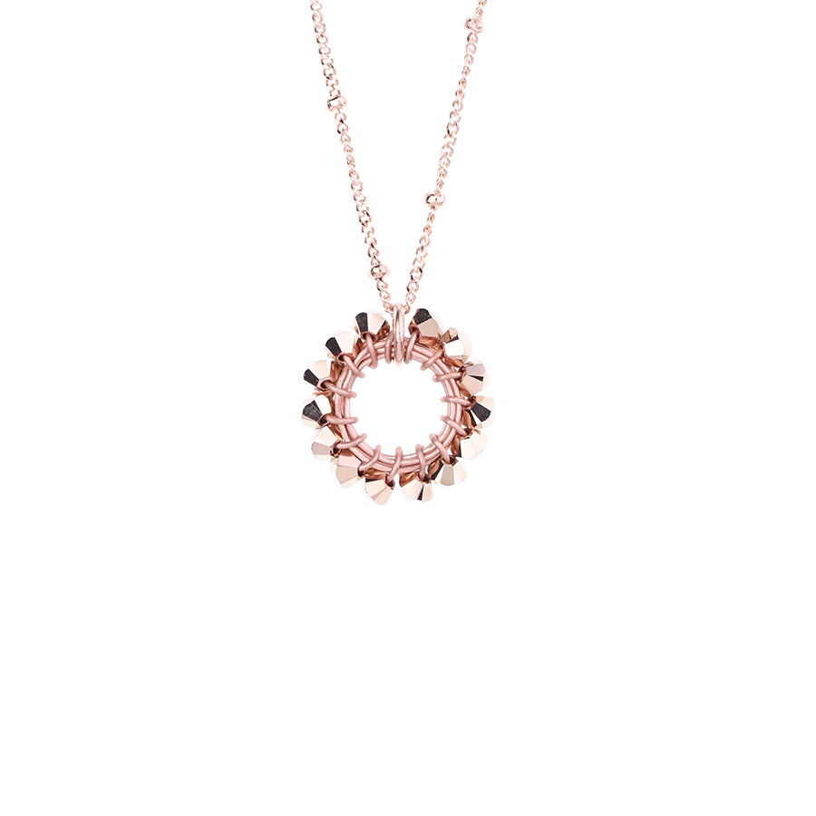 HOOP.necklace:  size:  XS  ROSEGOLD:color options