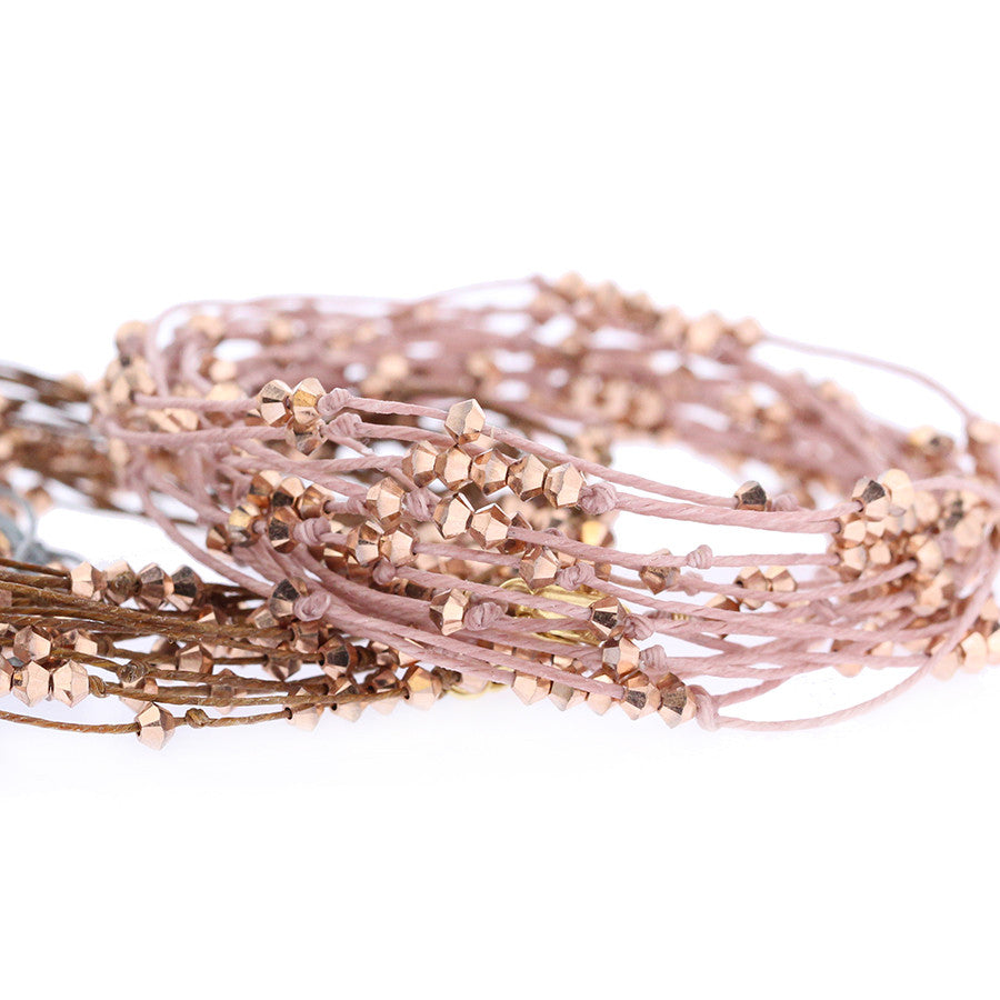 VINE.of.SEEDS:  wrap bracelet or necklace: ROSEGOLD