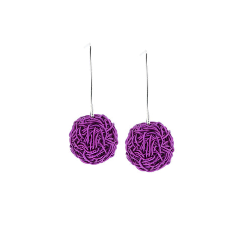"NEST.earrings:  no beading: .75"" drop"
