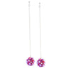 "NEST.drop.earrings: petite.ball: 2.5"" drop"