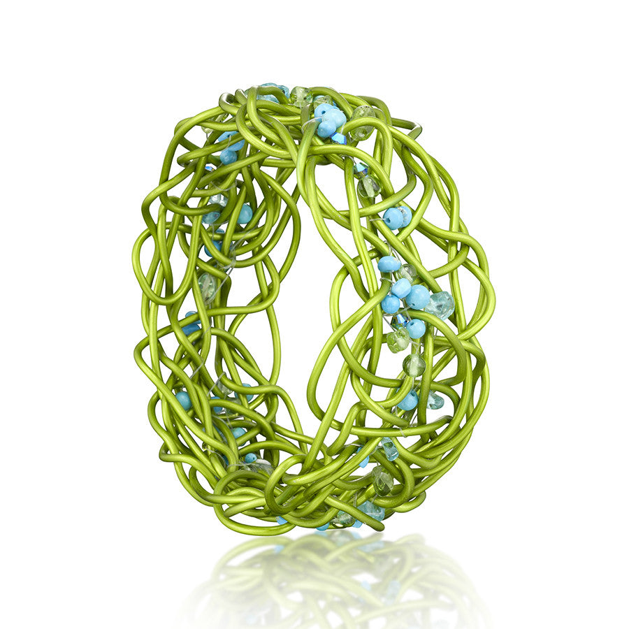 NEST.bracelet  LIME: mixed stones