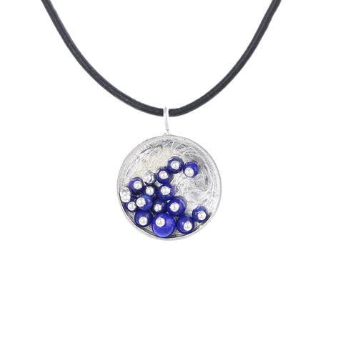 MOSAIC.pendant: WAVE of lapis: small