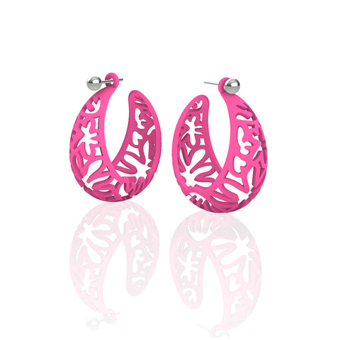MATISSE.cutout   CORAL.pink  MEDIUM hoops