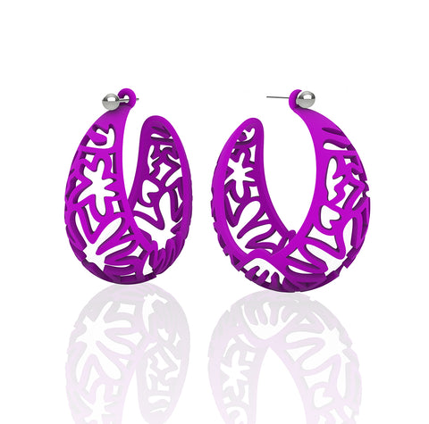 MATISSE.cutout   CORAL.purple   LARGE hoops