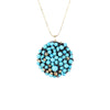 DISC.pendant:  14k.turquoise:  medium
