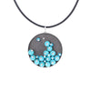 MOSAIC.pendant: WAVE of turquoise: medium