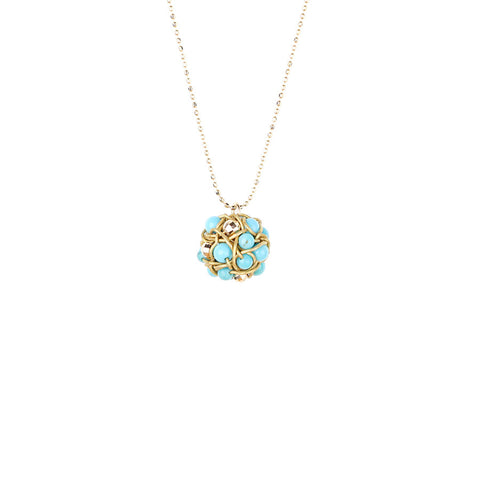 NEST.series:  necklace.petite:  turquoise.14k