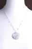 """SEED plantings"" DISC.necklace:  SILVER.milky.gold  NEW"