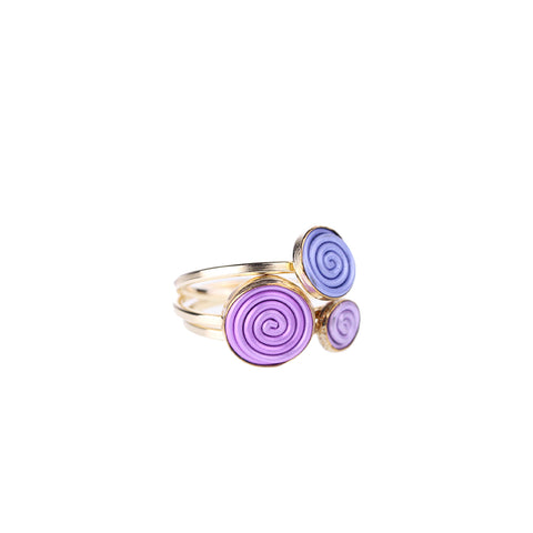 SPIRAL.rings  NEW goldfill
