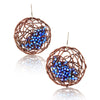 "DISC.earrings:  ""SEED plantings"": BRONZE..blue"