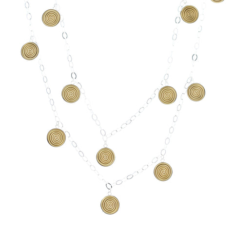 "SPIRAL.necklaces  ""Sayulita"" gold/silver"