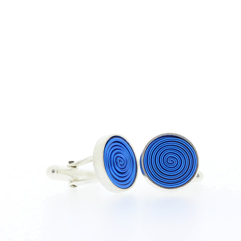 SPIRAL.cufflinks:  NEW royal blue