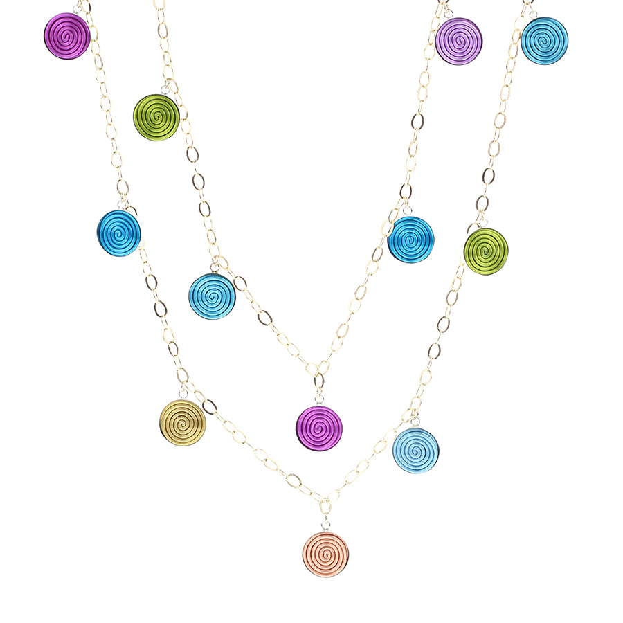 "SPIRAL.necklaces  ""Sayulita"" multi-color"