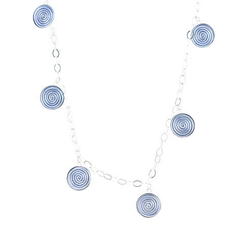 "SPIRAL.necklaces  ""Sayulita"" silvery.blue/silver"