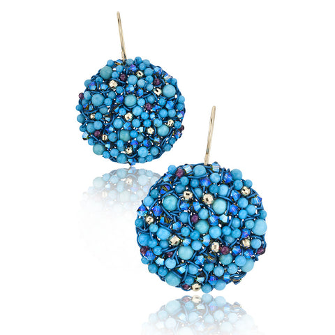 DISC.earrings:  turquoise.limited edition