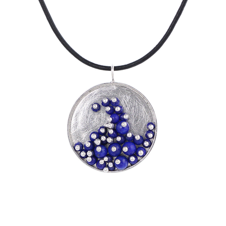 MOSAIC.pendant: WAVE of lapis: medium