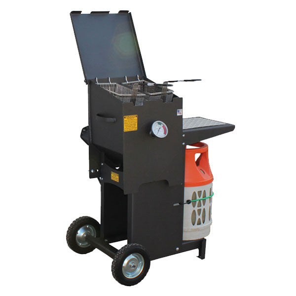 R&V Works Cajun Fryer-FF2R-ST 4 gal Two Basket With Stand